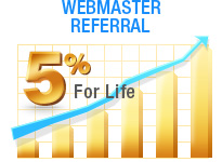 5% Webmaster Referral