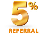 5% Referral